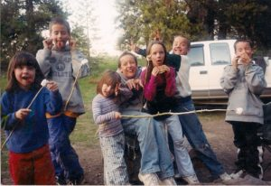 Silly kids camping 2004